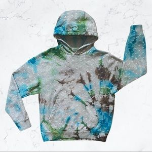 Nike All-over Checked Tie Dyed Hoodie
